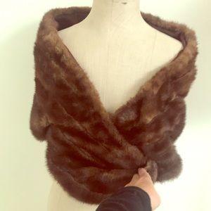 Accessories - Genuine MINK fur wrap scarf cape
